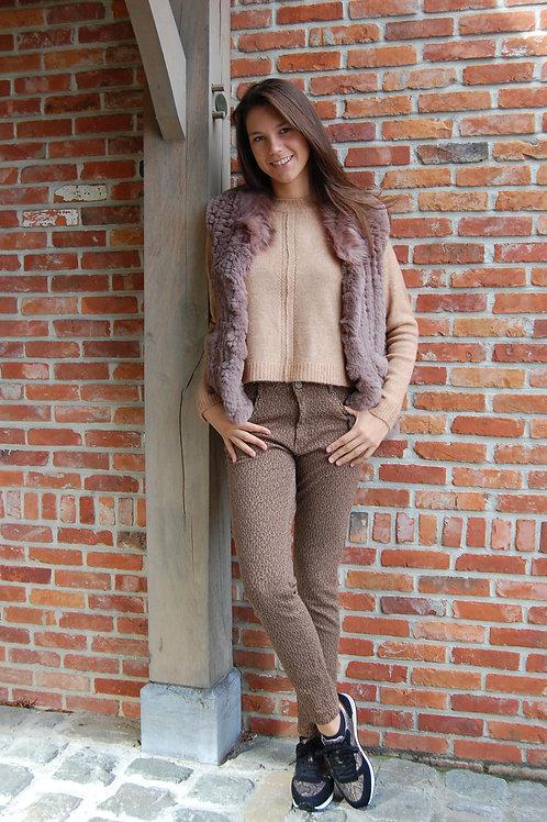Jeans Para-mi stretch leopard print