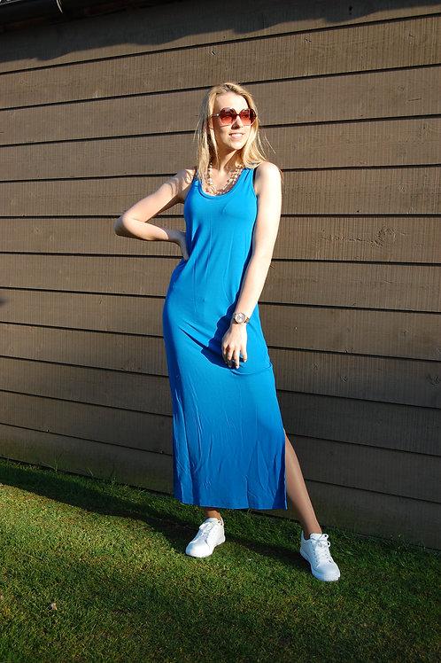 Lange mouwloze tricot jurk Esqualo