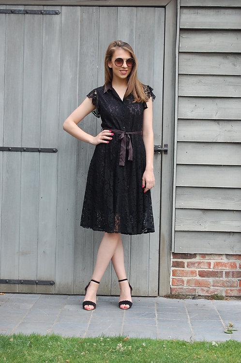 Zwarte jurk in kant
