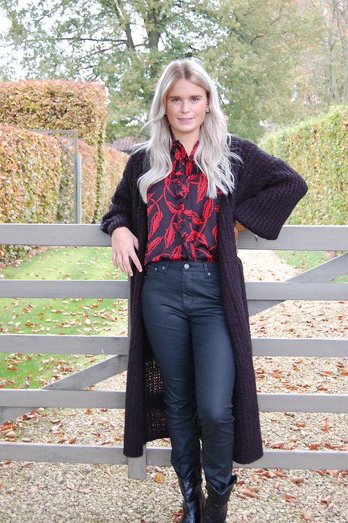 Fake leather broek in zwart Esqualo
