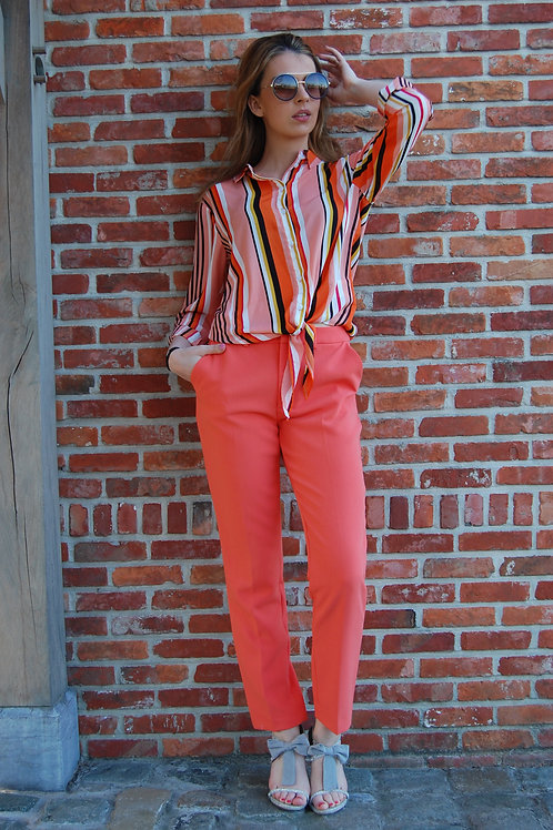 Broek chino oranje Esqualo