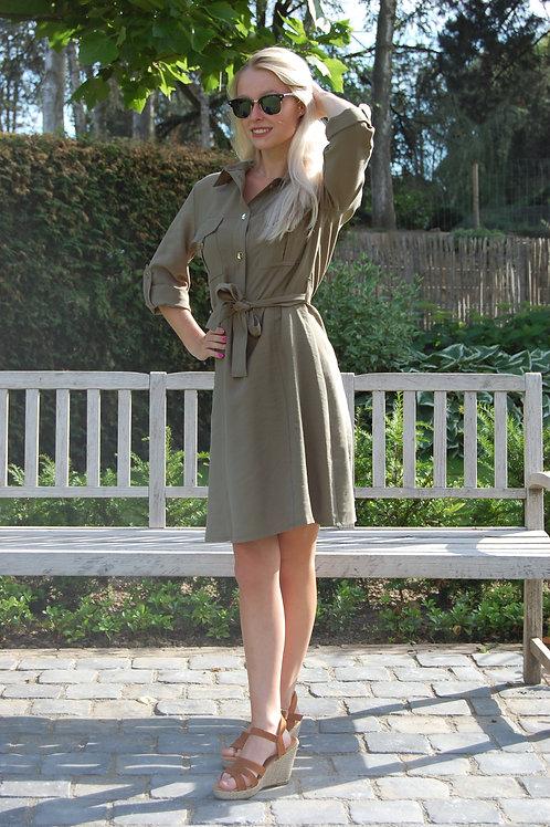 Kaki groen korte jurk Amelie&Amelie