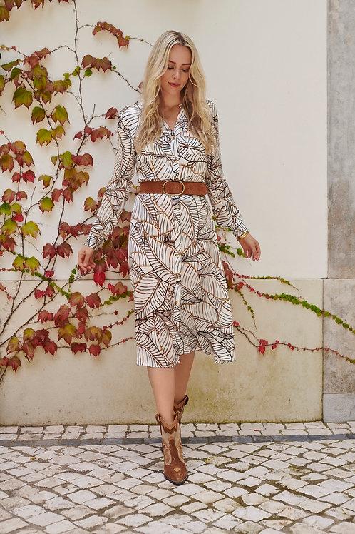 Lange jurk met print Esqualo
