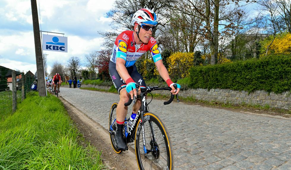 Bob Jungels (L/Deceuninck) at Dwars Door Vlaanderen.