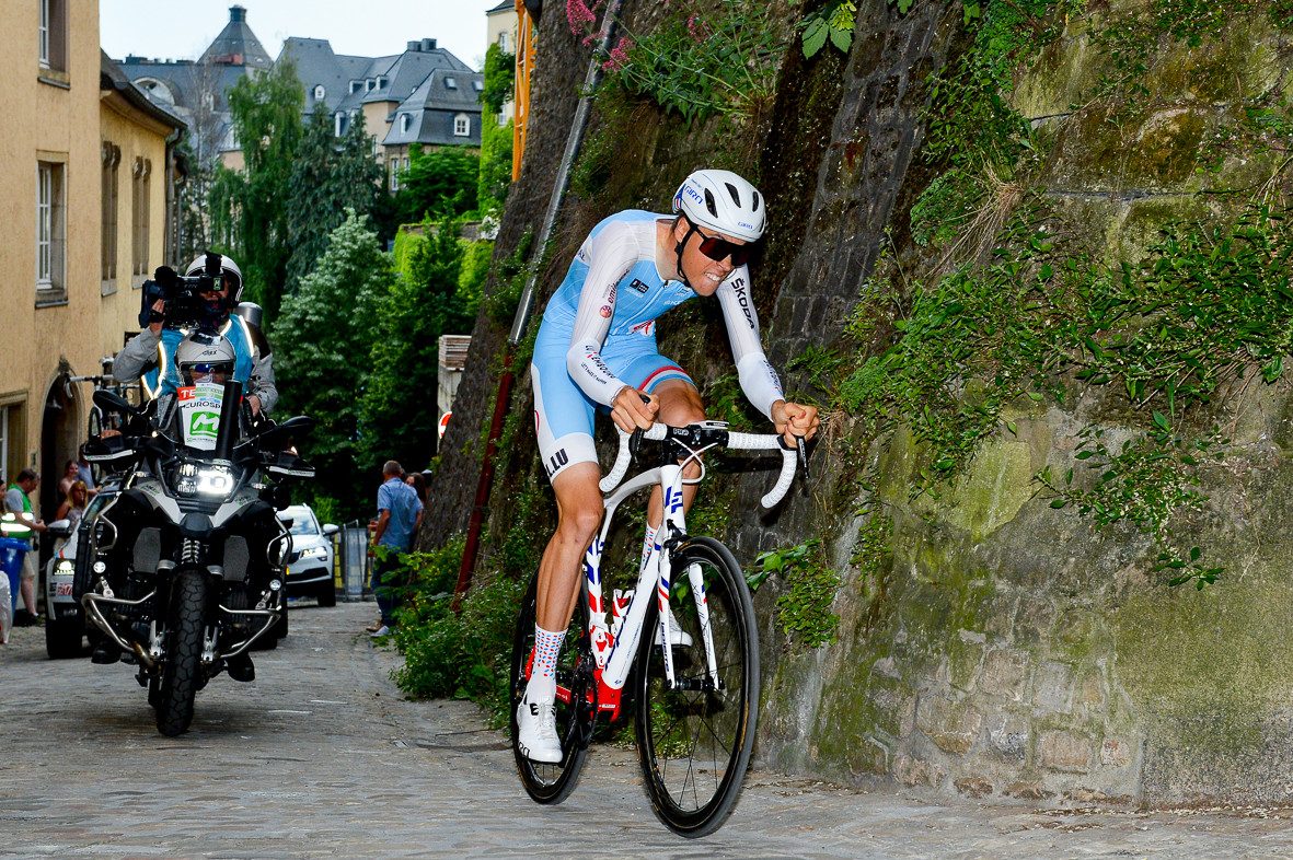 Kevin Geniets (Team Lëtzebuerg) at the prologue of the Skoda Tour de Luxembourg 2019.