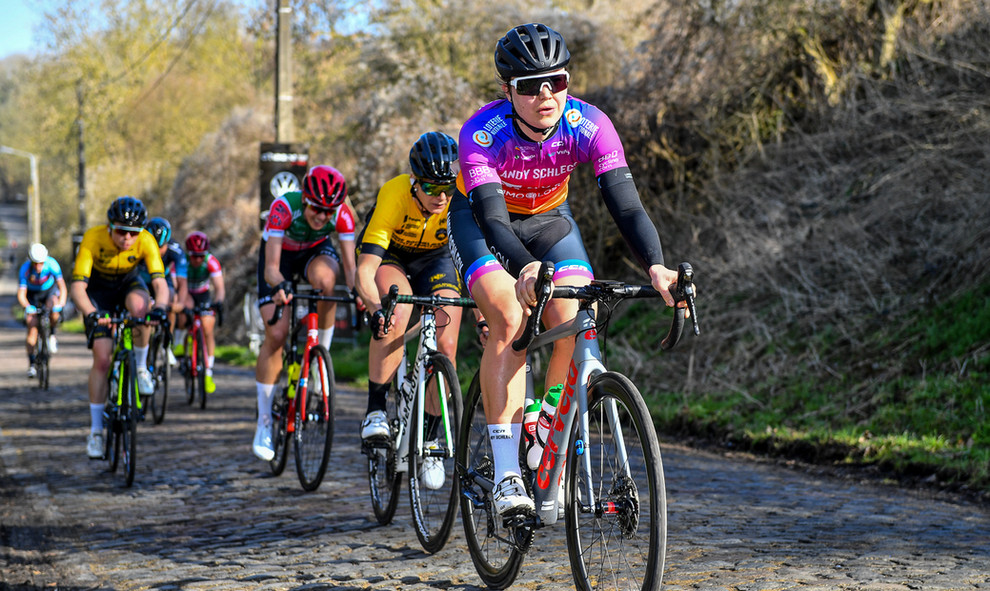 The Team Andy Schleck-CP NVST-Immo Losch at Le Samyn 2021.
