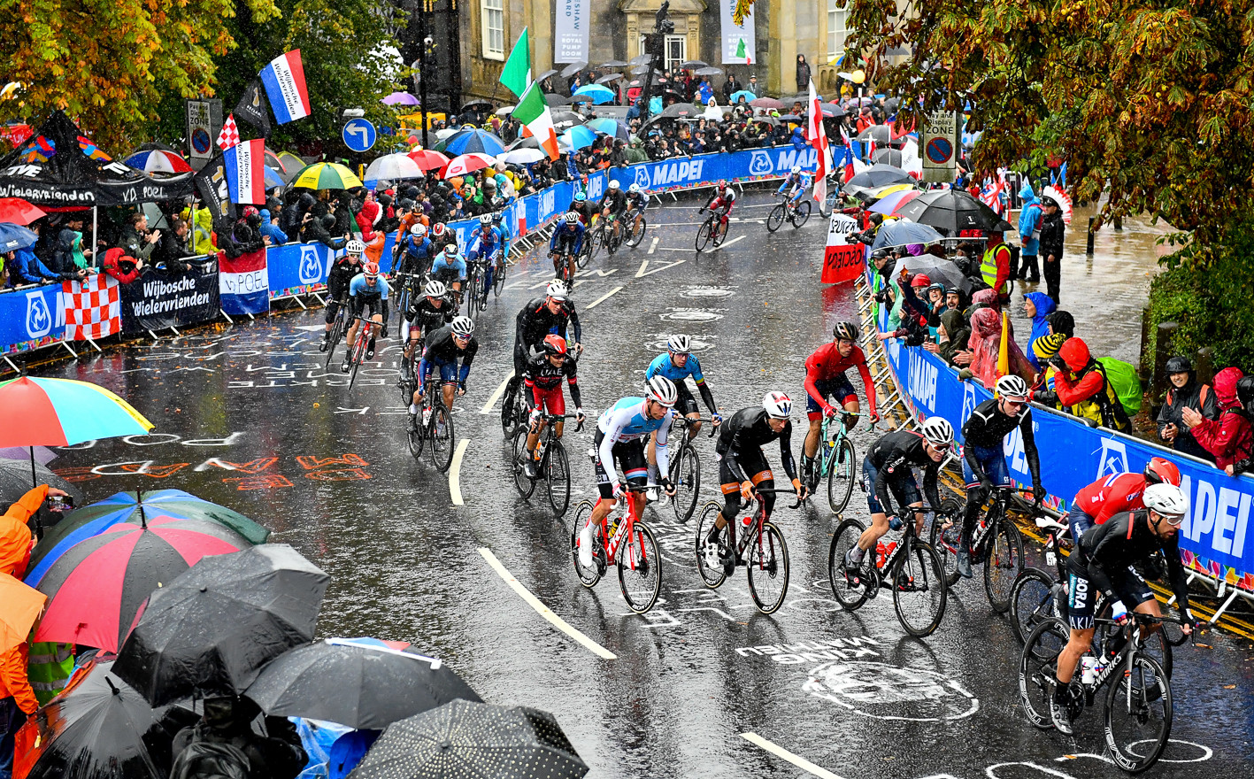 The Men Elite road race at the 2019 Road World Championships in Yorkshire.