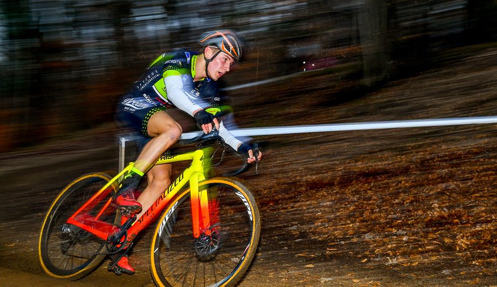 Nicolas Kess (L) in action at the CX in Alzingen (L)