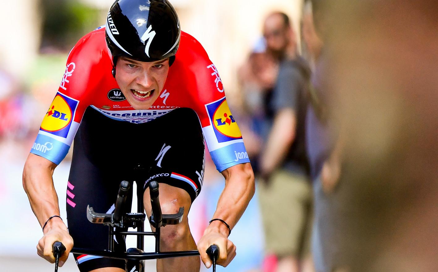 Bob Jungels (L/Deceuninck) at the final timetrial of the Giro 2019.