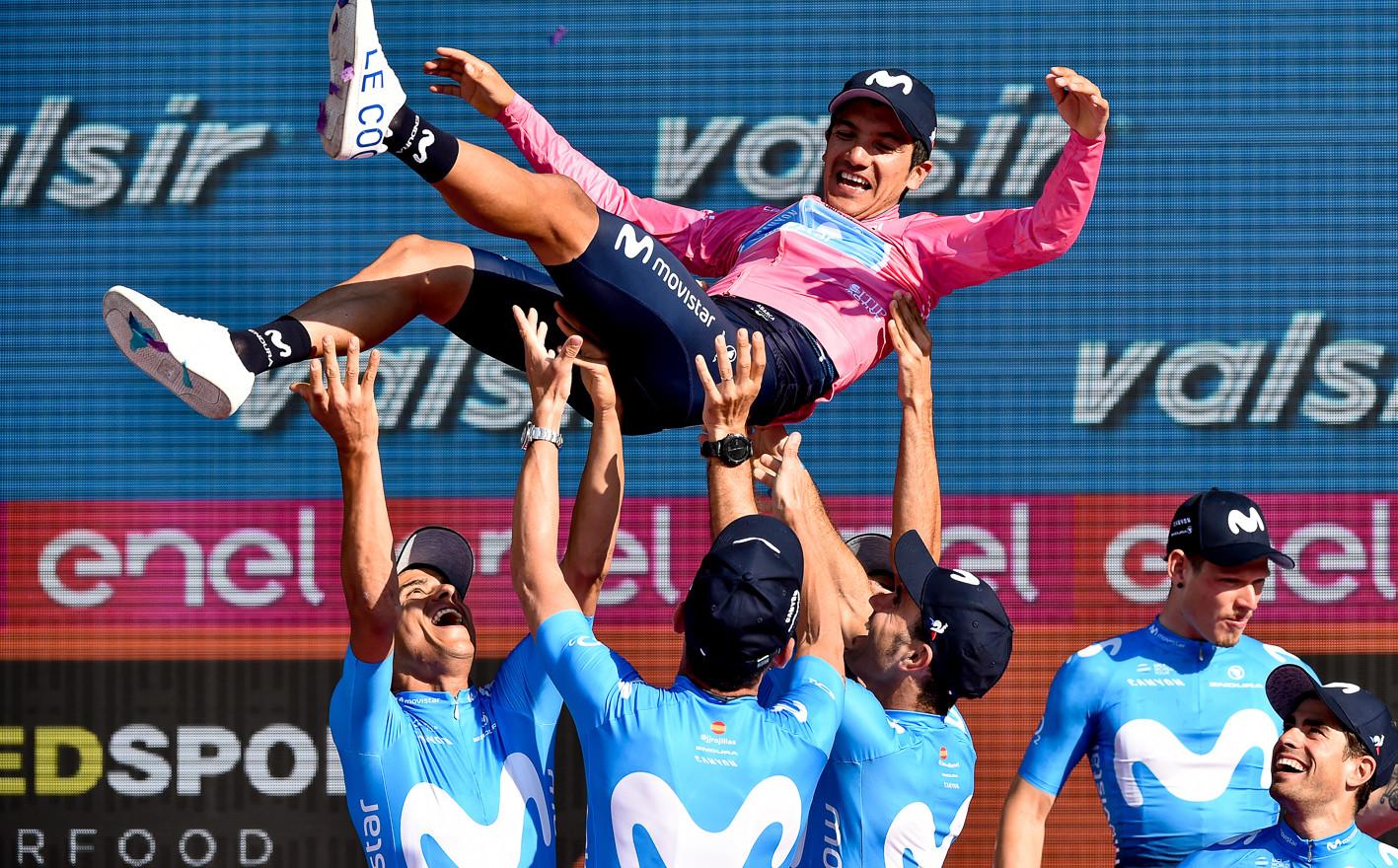 Richard Carapaz (ECU/Movistar) wins the Giro d'Italia 2019.