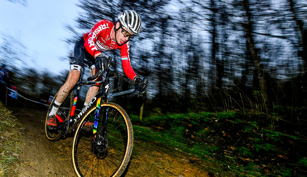 Scott Thiltges (L) in action at the CX in Cessange (L)