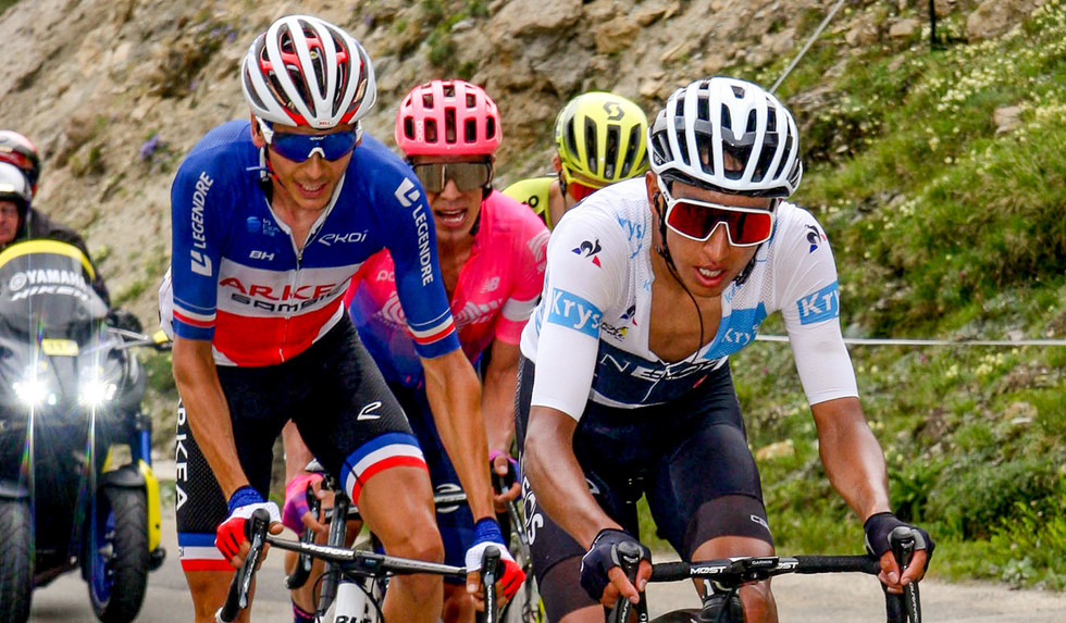 Egan Bernal (COL/Ineos) leads the race at stage 19 of the Tour de France.