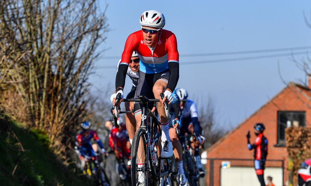Kevin Geniets (L/Groupama-FDJ) at Kuurne-Brussel-Kuurne 2021.