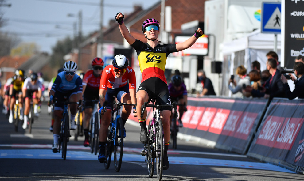 Lotte Kopecky (B/Liv Racing) wins the women edition of Le Samyn 2021.
