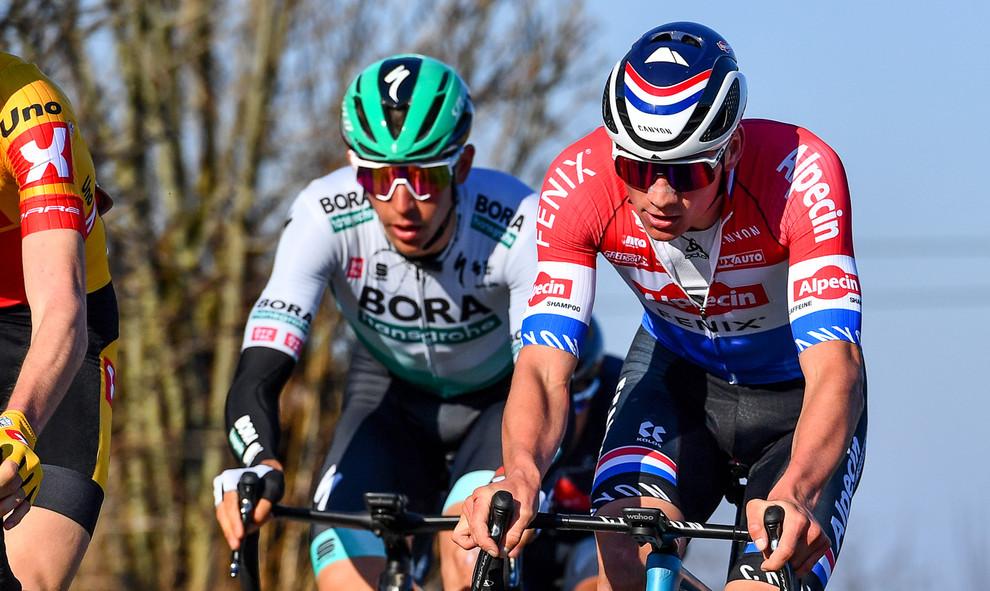 Mathieu van der Poel (NL/Alpecin-Fenix) at Kuurne-Brussel-Kuurne 2021.