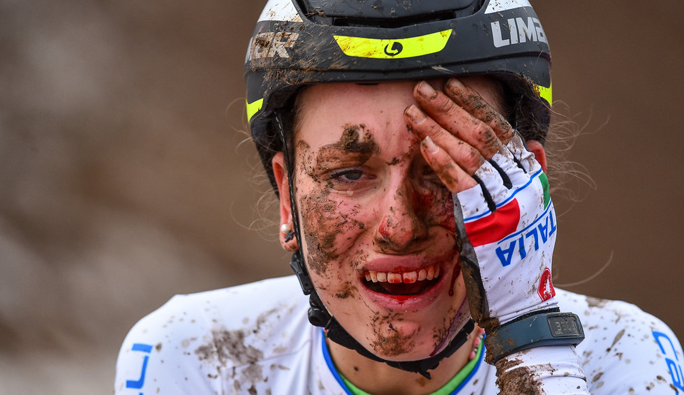 Alice Maria Arzuffi (I) at the UCI-Cyclo-Cross World Championships in Bieles (Luxembourg) in 2017