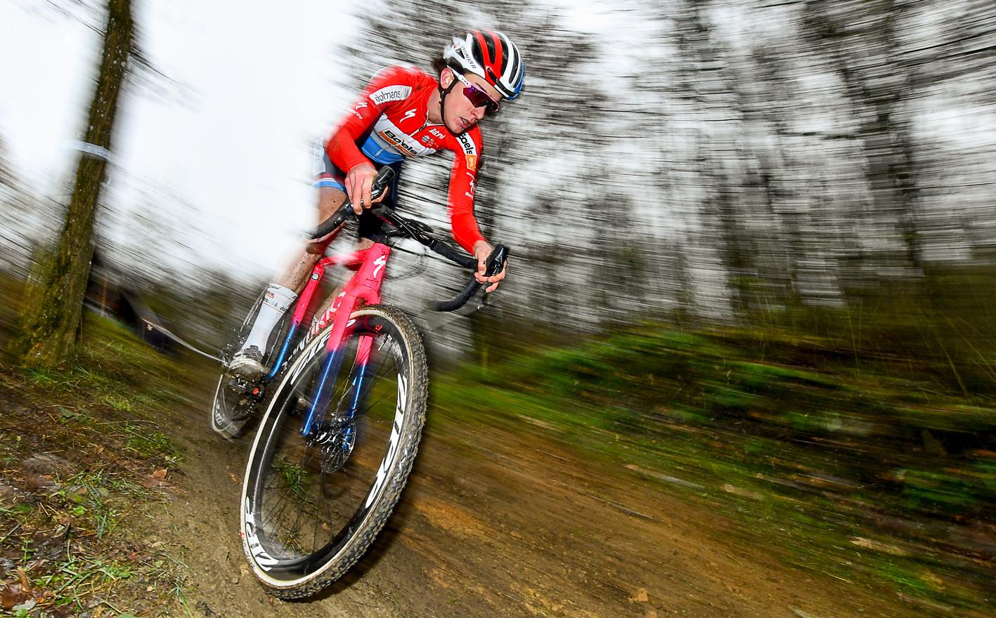 "Christine Majerus (L) enjoyed riding her ""Home""-CX in Cessange (L)"
