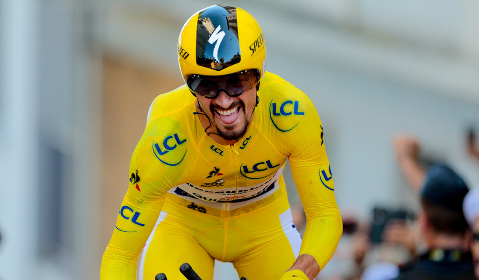 Julian Alaphilippe (F/Deceuninck) was the fastest on stage 13 of the Tour de France 2019.