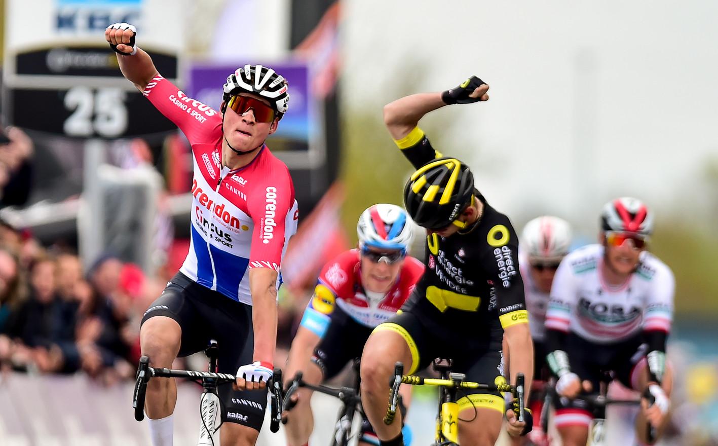 Mathieu van der Poel (NL/Corendon) wins Dwars door Vlaanderen 2019.