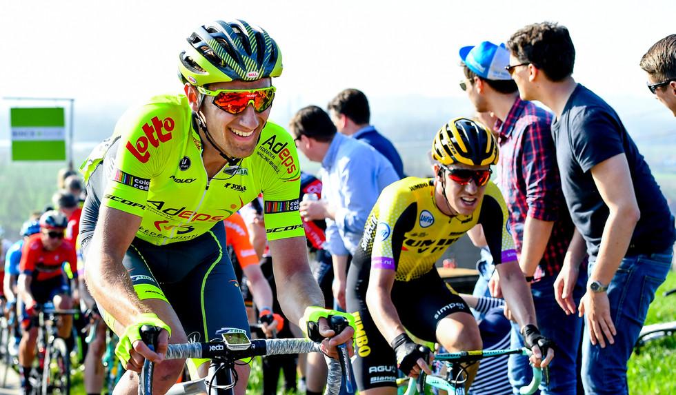 Youngster Tom Wirtgen (L/Wallonie) rode a strong E3 BinckBank Classic 2019.