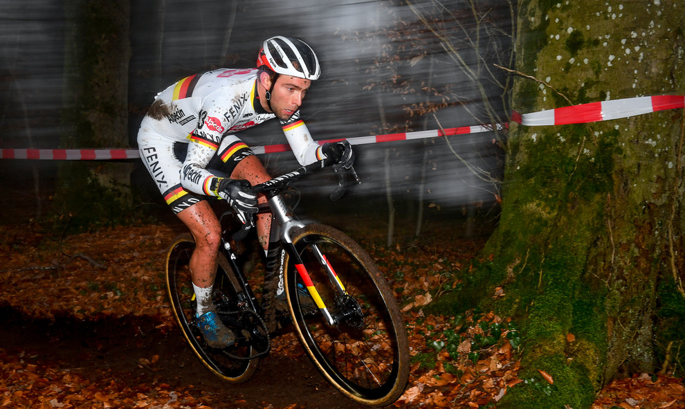 The german cyclocross champion Marcel Meisen at the cyclocross race in Pétange (L)