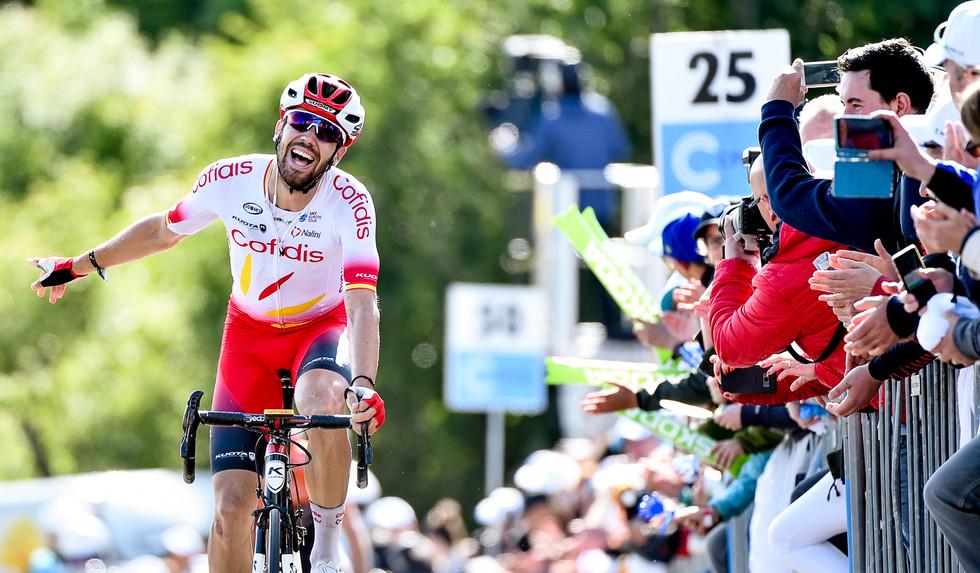 Jesus Herrada (E/Cofidis) wins stage 3 of the Skoda Tour de Luxembourg 2019.
