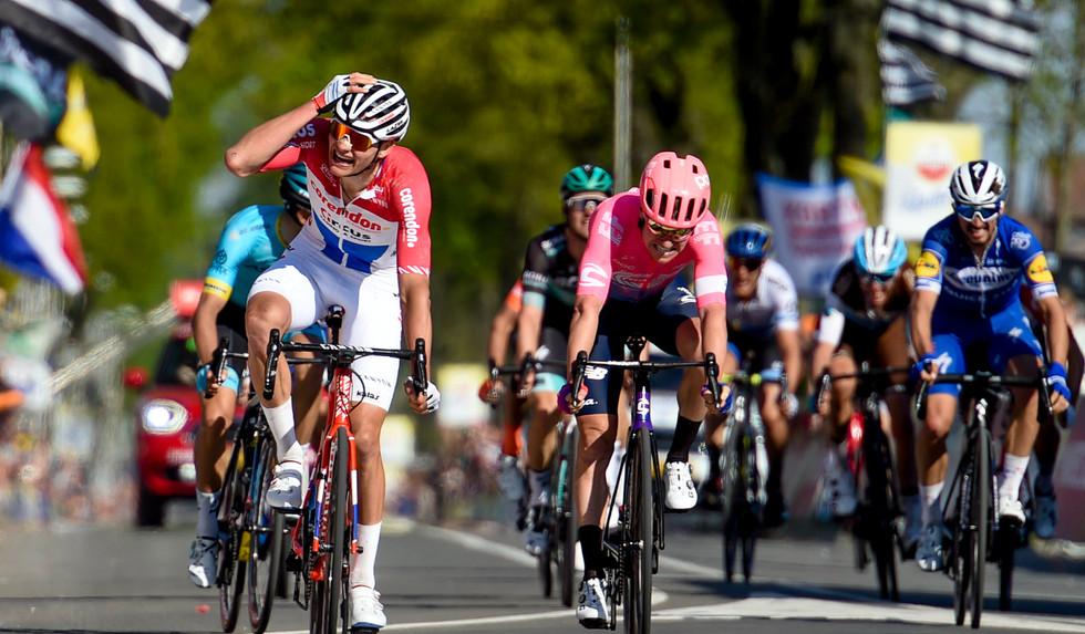 Mathieu van der Poel (NL/Corendon) wins the Amstel Gold Race 2019.