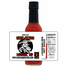 Louisiana Red Hot Sauce - BEST SELLER! 5 oz.