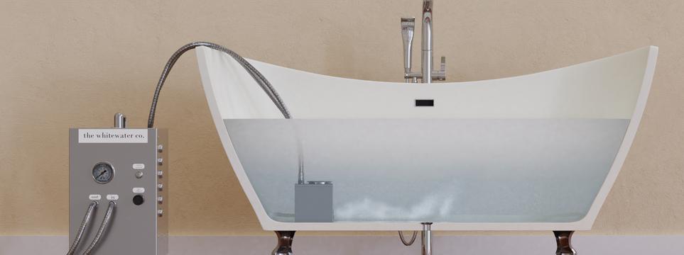 Portable Nanobubbler Side Bath View
