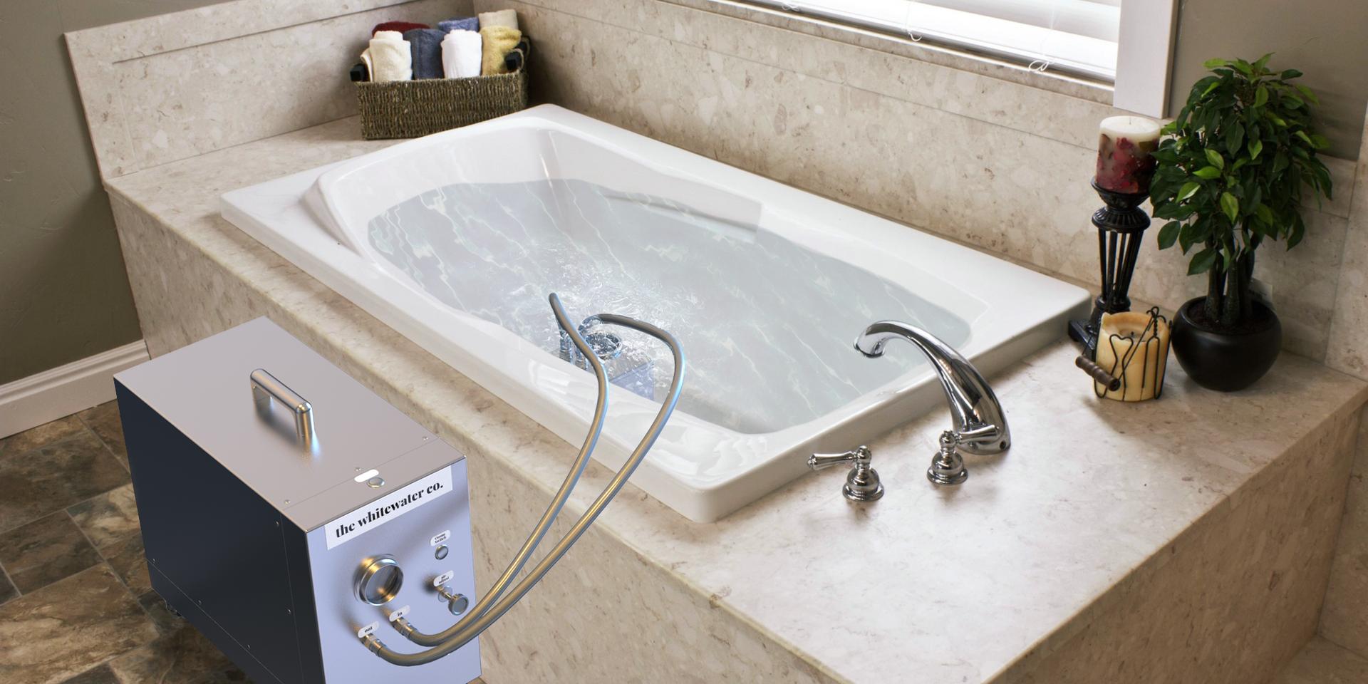 Portable Nanobubble Hydrotherapy in Bathroom