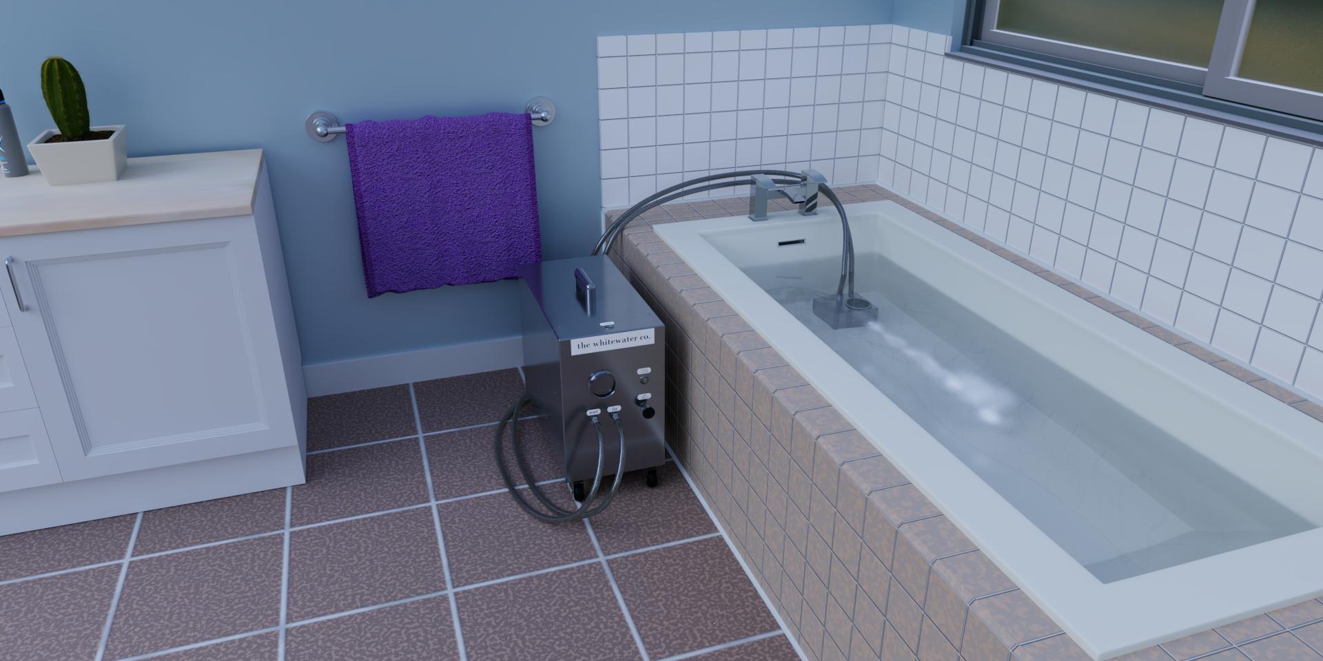 Portable Nanobubbler in Bathroom