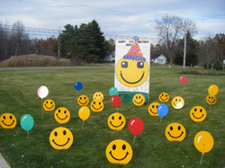 Smiley Sign with Birthday Hat