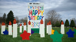 Happy Birthday Sign; pair with stars, candles, and or balloons