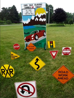 Sports Car Sign