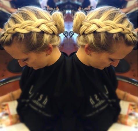 blonde prom hair braid