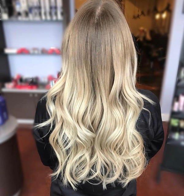 Long Medium Blonde Hair