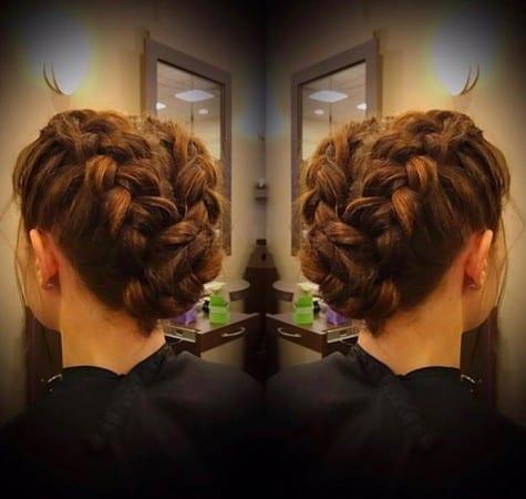 darker prom hair braid