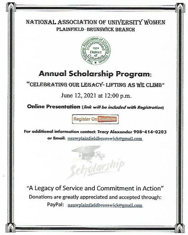 Flyer June 12, 2021 Scholarship Event