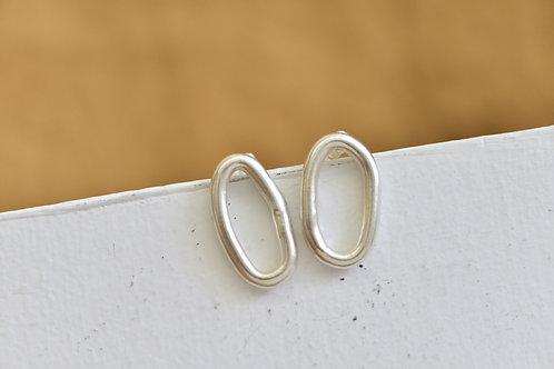 QIPAO Oval Earrings