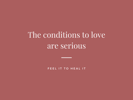 Love absolutely has conditions