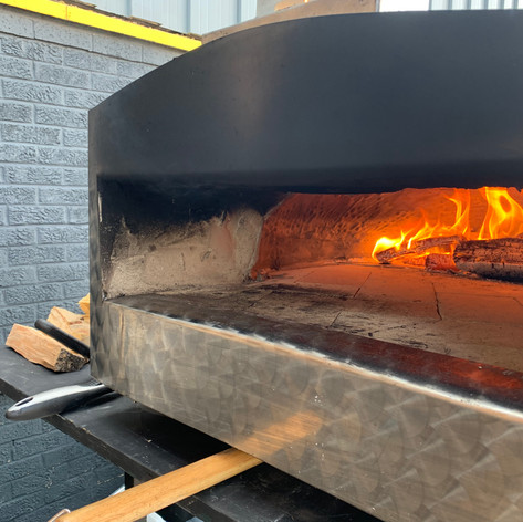 Our Wood Fired Pizza Oven at 400 degrees