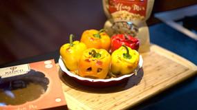 Gluten Free Stuffed Jack-o'-lantern Bell Peppers