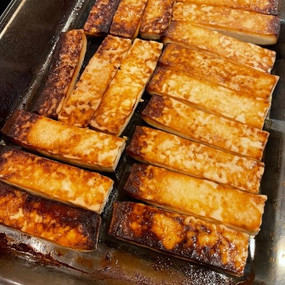 Super Easy Vegan Gluten-Free Baked Tofu