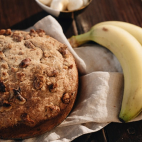 (Vegan + Gluten Free) Easy Banana Bread