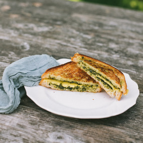vegan, Gluten FreePesto Grilled Cheese