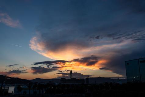 Sunset Sky - Plaça de la Rosa dels Vents