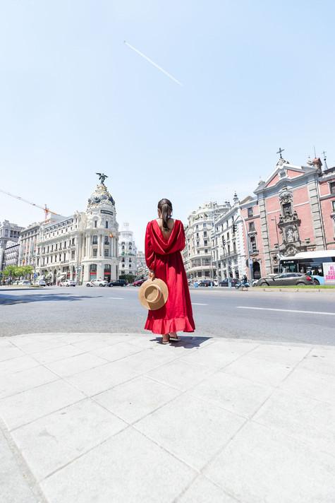 walking through Madrid