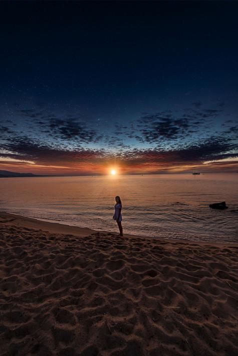 Sunrise at Badalona beach