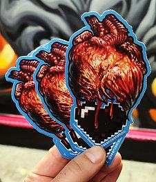 Black Heart Sticker by Sean Zee