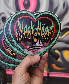 Black Heart Sticker by Sean Davis